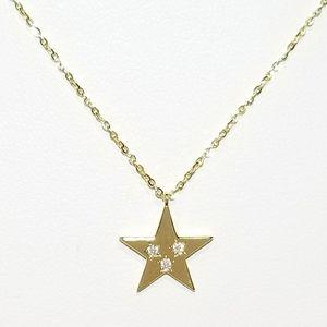 Jewelry - NEW Dainty 925 Silver Pave CZ Star Necklace